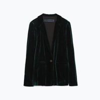 GREEN VELVET STUDIO JACKET