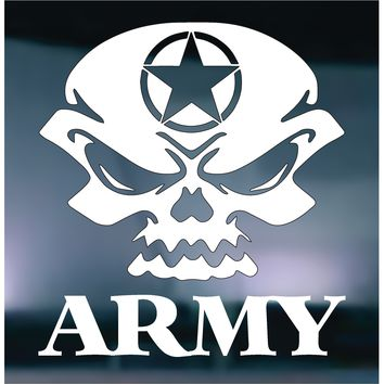 US Army Skull Vinyl Graphic Decal