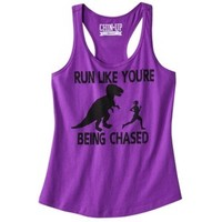 Junior's Run Like You're Being Chased Graphic Tank - Purple