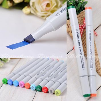 18 P Colors self-selection set Marker Pen commonly used Sketch marker copic markers