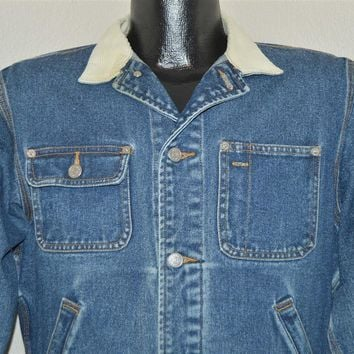 90s Ralph Lauren Polo Dungaree Denim Jacket Medium
