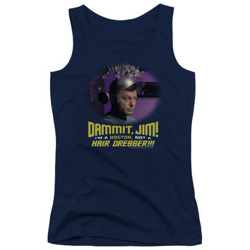 Star Trek: Original TV Not a Hair Dresser Navy Womens Tank-Top T-Shirt