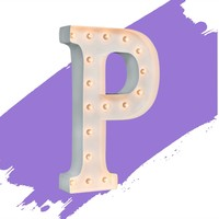 "24"" Letter P Lighted Marquee Letters (White Gloss)"