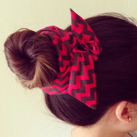 Funky Red and Black Bun Twist by Eindre on Etsy