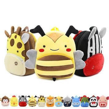 Cartoon Animals Children School Bags Cozy Soft Plush For Toddler Baby Snacks Candy Backpack Kindergarten Kids Mochila Infantil