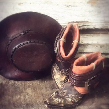Dan post upcycled cowboy boots, boho booties, country girl