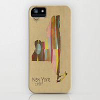 new york state map iPhone & iPod Case by bri.buckley