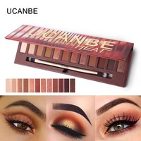 UCANBE Brand New 12 Colors Molten Rock Heat Eye Shadow Makeup Palette Shimmer Matte Nude Brown Red Warm Orange Eyeshadow Kits