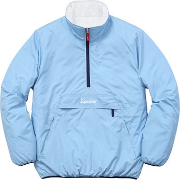 Supreme: Reversible Pullover Puffer - Light Blue