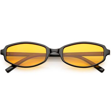 Retro Small Rectangle Color Toned Lens Sunglasses C751