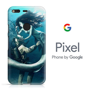 Diver and The Mermaid Google Pixel Phone 3D Case