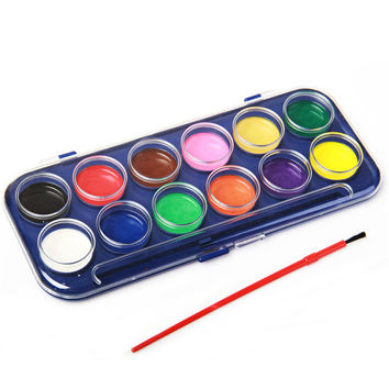 12 Watercolor Paint Colors
