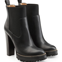 Black Leather Ankle Boots - Sergio Rossi | WOMEN | KR STYLEBOP.COM