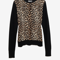 Equipment Leopard Silk Front Sweater-Just In-Clothing-Categories- IntermixOnline.com