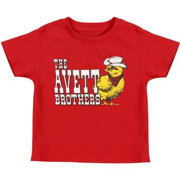 Avett Brothers Boys' Chick Childrens T-shirt Red