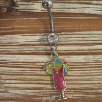 Belly Button Ring - Body Jewelry - Umbrella Drink