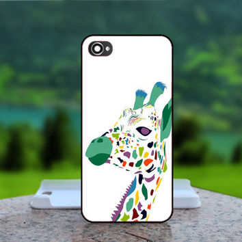 Cute Giraffe Design - Photo Print in Hard Case - For iPhone 4 / 4s Case , iPhone 5 Case - White Case, Black Case (CHOOSE OPTION )