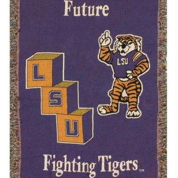 "Throw Blanket - Lsu  "" Future Fighting Tigers """