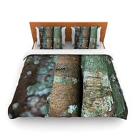 "Susan Sanders ""Into the Woods"" Brown Rustic Lightweight Duvet Cover"