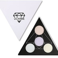 UCANBE Highlighter Palette Shimmer Illuminating Powder Makeup Satin Glow Kit - Revamp Your Face Eye Lip Color Highlighting Finish