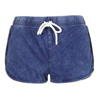 PETITE Washed Runner Short