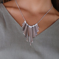 Tulita Silver Chopped Wide Necklace