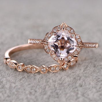 Shop Morganite Engagement Ring on Wanelo 714138f72