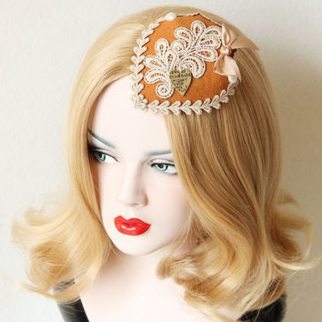 Fashion Lady Lace Bows Top Hats Baret Cap Bride Ball Club Wedding Fancy Dress Halloween Cosplay Costume Party Hair Clip Gift