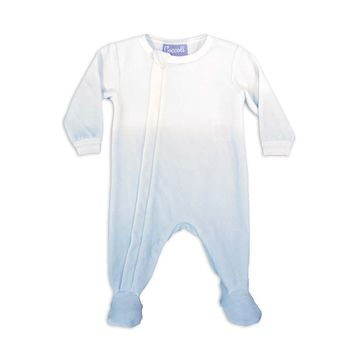 Coccoli Baby Boys' Blue Ombre Zipper Velour Footie
