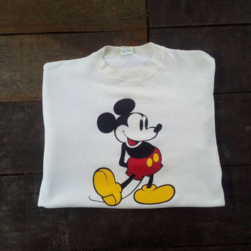 Mickey mouse sweatshirt jumper vintage hip hop rare
