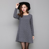 Maternity Dress Autumn Winter Dresses for Pregnant Women Three-dimensional Wave Point Maternity Clothing Pregnancy Clothes B426