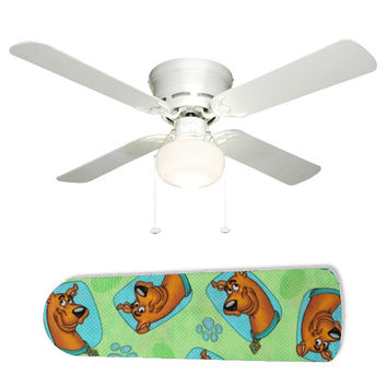 """Scooby Dooby Doo 42"""" Ceiling Fan and Lamp"""