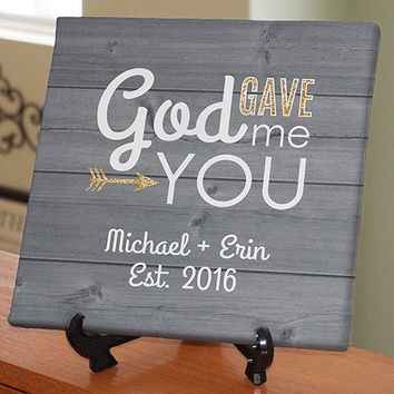 God Gave Me You Personalized Canvas - 9199544