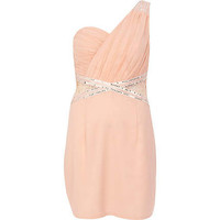 Light pink Little Mistress one shoulder dress