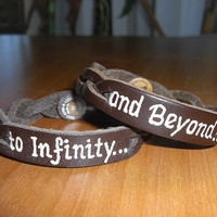 LEATHER BRACELET  To Infinity and Beyond  2 by virgininthecity