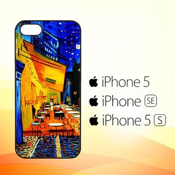 Cafe terrace Night by Vincent Van Gogh Y1653  iPhone 5|5S|SE Case