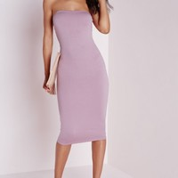 Missguided - Jersey Bandeau Midi Dress Mauve