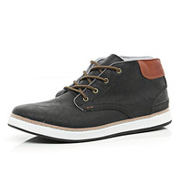 River Island MensBlack lace up boots
