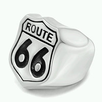 Route 66 Stainless Steel Ring