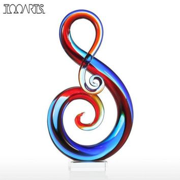 ONETOW Tooarts Music Note Glass Figurine