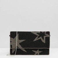 Park Lane Embellished Star Clutch Bag at asos.com