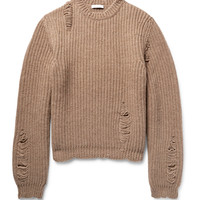 J.W.Anderson - Distressed Alpaca and Wool-Blend Sweater