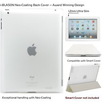 i-BLASON iPad 2 Case Smart Cover Compatible (Not Included) Ultra Slim 1.2mm (Frost)