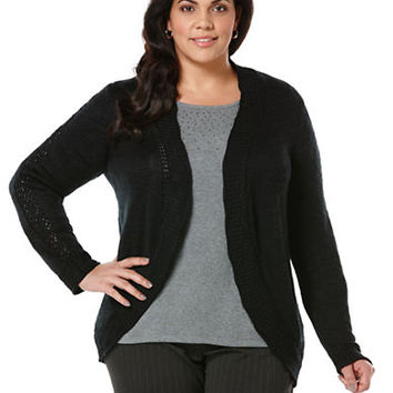 Rafaella Plus Plus Slub Sweater Cardigan