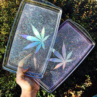 Crystal Clear Rolling Tray | Rolling Tray | Vanity Tray