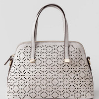 Leighton Perforated Daisy Satchel