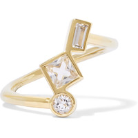 Roni gold-tone crystal ring | Elizabeth and James | US | THE OUTNET