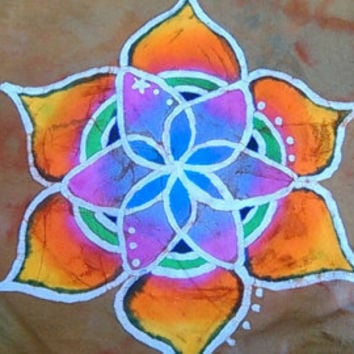 Indian Lotus Mandala Round Beach Throw Hippie Picnic Tapetry Towel Boho Dorm 72""