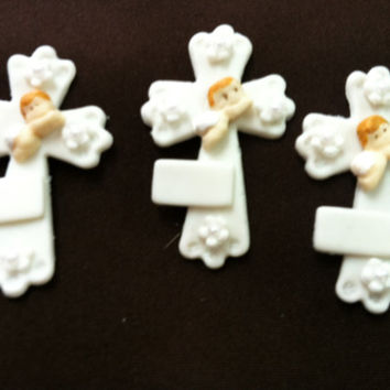 Baptism Favor, Baptism Decoration, Christening Favor, Baptism Cross, Baby Angels Favor, Communions Crosses,  Boy Baptism, Cross Decorations