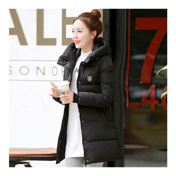 Super Long Down Coat Woman Thick Fashionable Thick   black   M